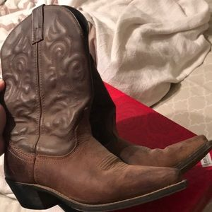 Laredo women's cowboy boots brown leather